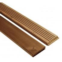 Lames de Terrasse CANCUN Pin 28 mm 2.50 m x 145 mm Marron 20 m² (Lames vendues seules)