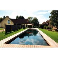 piscine bois liner noir
