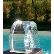 Cascade Transparente pour Piscine