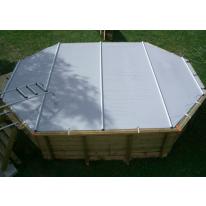 Bâche à barres pour piscine octognale allongée 820x470 cm