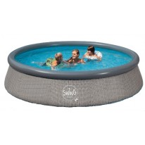 Piscine Gonflable Ronde Grise ⌀ 366 x h. 91 cm