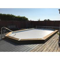 Volet roulant déplaçable pour piscine octogonale allongée 540x336cm