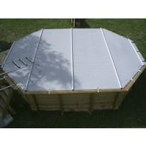 Kit de Couverture de Sécurité à Barres pour Piscine 490x355cm