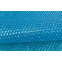 Bâche à bulles 180μ bleu pour piscine octogonale allongée 560x410 cm