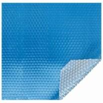 Bâche à bulles 180μ bleu pour piscine ronde hexagonale Ø 422 cm
