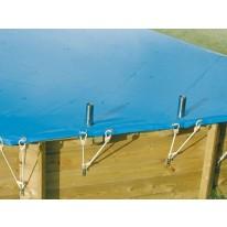 Bâche hiver pour piscine octogonale allongée UBBINK 550x400cm