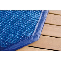 Bâche à bulles pour piscine bois octogonale allongée 550x400cm - 400 µ