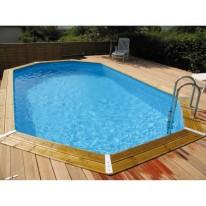 Liner bleu uni pour piscine hors sol 6.45m x 4.70m x 1.28m
