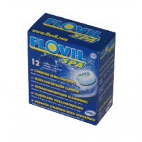Boîte de 12 pastilles 11gr FLOVIL CHOC pour piscine