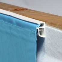 Liner Bleu 75/100ème pour piscine octogonale allongée 550x350x128cm
