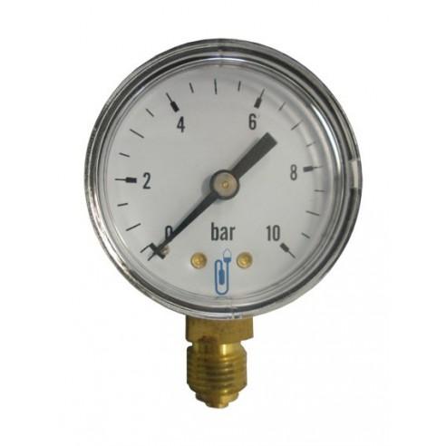 Manomètre Sec Boîtier ABS 50 mm de diamètre raccord vertical 1/4''