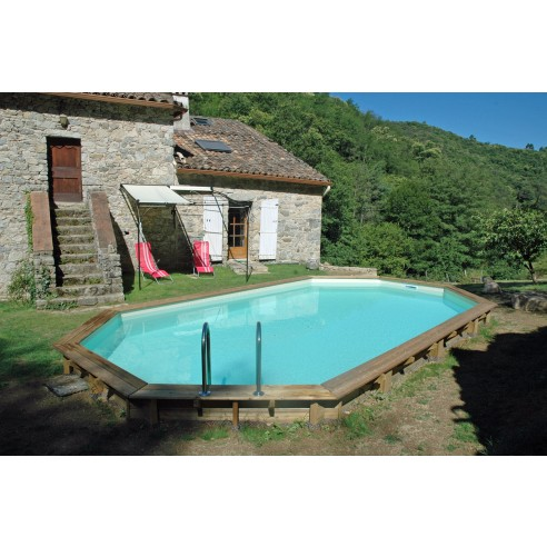 Piscine bois sasha ubbink allong e en kit 355x490xh130 cm for Catalogue piscine super u