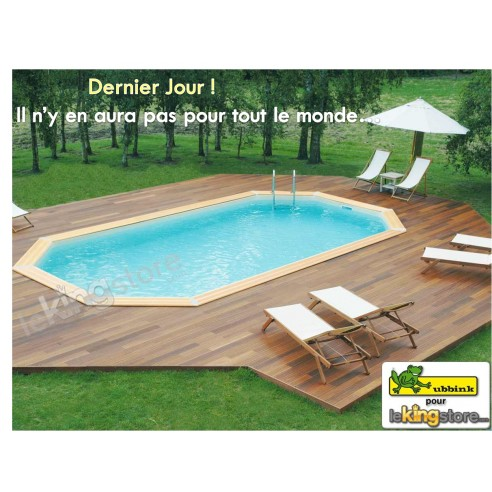 Piscine bois 610x400x120 for Prix piscine 10x4